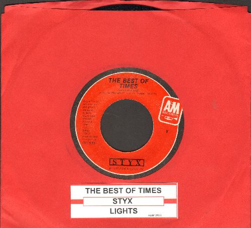 Styx - The Best Of Times/Lights (with juke box label) - NM9/ - 45 rpm Records