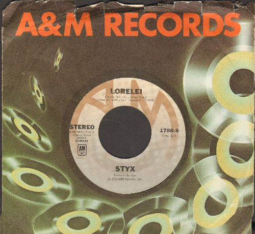 Styx - Lorelei/Midnight Ride (with A&M company sleeve) - NM9/ - 45 rpm Records