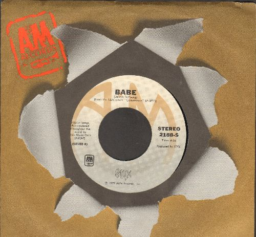 Styx - Babe/I'm O.K. (with juke box label and company sleeve) - EX8/ - 45 rpm Records