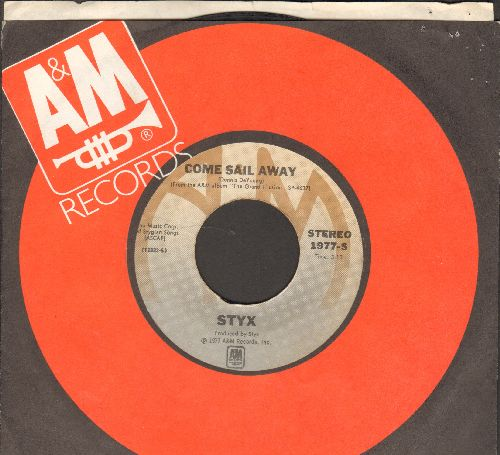 Styx - Come Sail Away/Put Me On (with A&M company sleeve) - VG7/ - 45 rpm Records