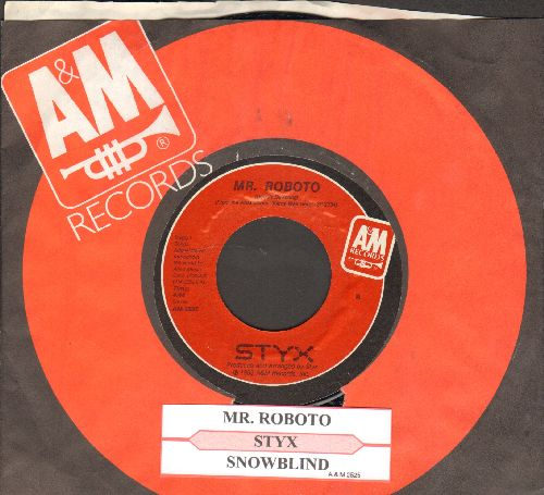 Styx - Mr. Roboto/Snowblind (with juke box label and A&M company sleeve) - VG7/ - 45 rpm Records