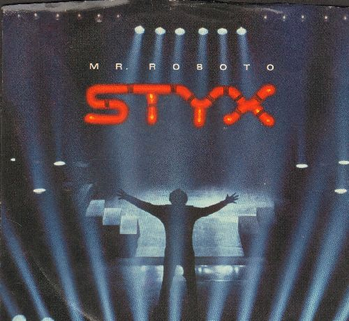 Styx - Mr. Roboto/Snowblind (with picture sleeve) - VG7/VG7 - 45 rpm Records