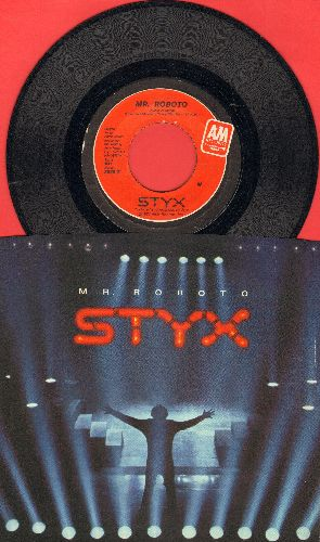 Styx - Mr. Roboto/Snowblind (with picture sleeve) - EX8/NM9 - 45 rpm Records