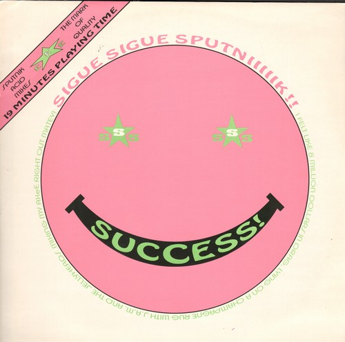 Sputnik - Success! (Acid Mix #1 + Acid Mix #2/Frankenstein Cha Cha Cha/Balearacidic 12 Inch (12 inch 45rpm vinyl Maxi Single with picture cover, British Pressing) - M10/NM9 - LP Records