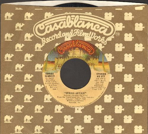 Summer, Donna - Spring Affair/Come With Me (with Casablanca company sleeve) - EX8/ - 45 rpm Records