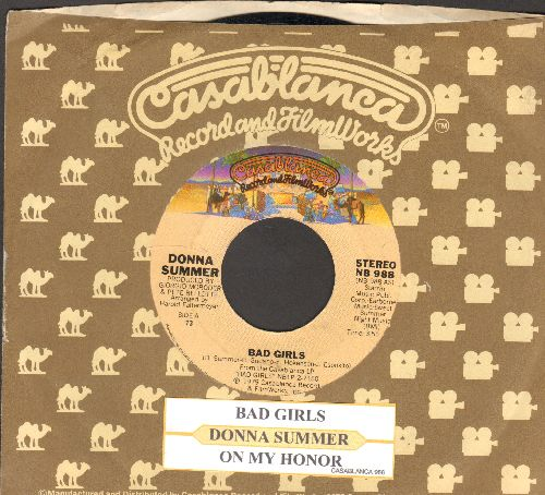 Summer, Donna - Bad Girls/On My Honor (Dance Club Favorite!) (with Casablanca company sleeve and juke box label) - NM9/ - 45 rpm Records