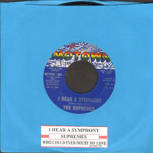 Supremes - I Hear A Symphony/Who Could Ever Doubt My Love (with juke box label) - VG7/ - 45 rpm Records
