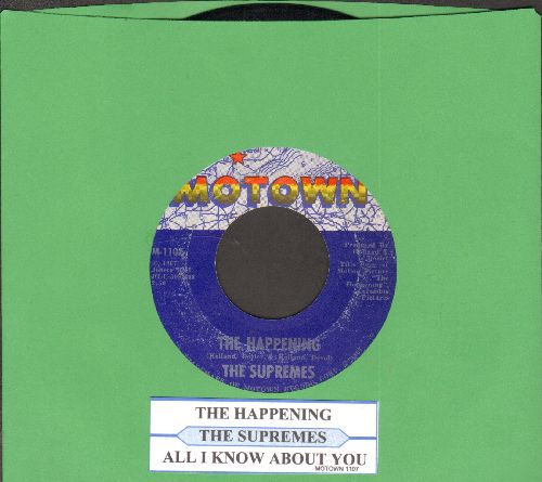 Supremes - The Happening/All I Know About You (with juke box label) - NM9/ - 45 rpm Records