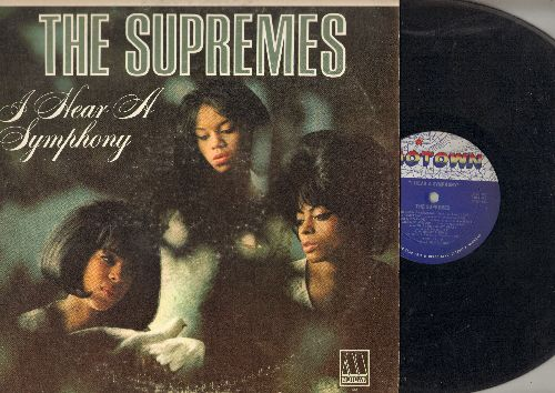 Supremes - I Hear A Symphony: Yesterday, Unchained Melody, A Lover's Concerto, Wonderful Wonderful (stereo) - VG7/VG7 - LP Records