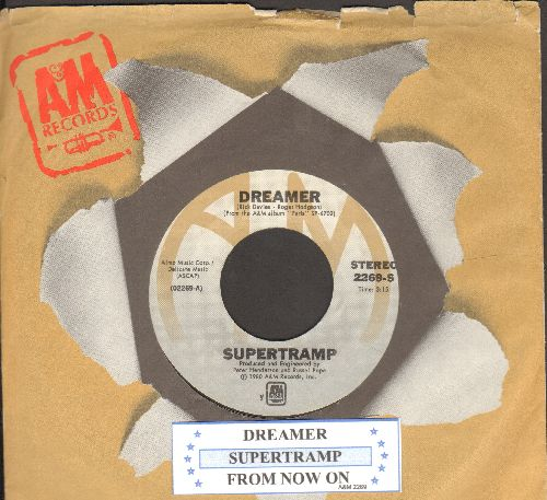 Supertramp - Dreamer/From Now On (with juke box label and A&M company sleeve) - NM9/ - 45 rpm Records