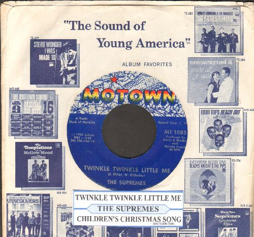 Supremes - Twinkle Twinkle Little Me/Children's Christmas Song (with juke box label and Motown company sleeve) - EX8/ - 45 rpm Records