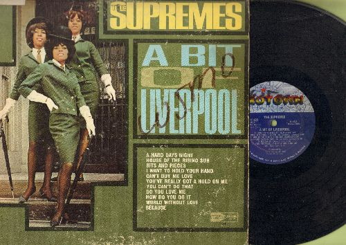 Supremes - A Bit Of Liverpool: A Hard Days Night, House Of The Rising Sun, I Want To Hold Your Hand, Can't Buy Me Love, Do You Love Me, World Without Love (vinyl MONO LP record)(wol/woc) - VG7/VG6 - LP Records