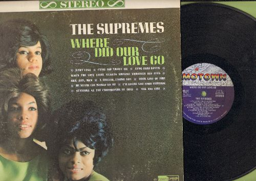 Supremes - Where Did Our Love Go: Baby Love, Come See About Me, Ask Any Girl, He Means The World To Me, Long Gone Lover (Vinyl Stereo LP record) - EX8/VG7 - LP Records