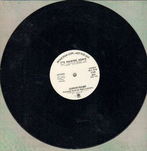 Supertramp - It's Raining Again (4:25 minutes CHR Mix)/Waiting So Long (6:32 Special AOR Mix) (Special 12 inch Maxi Single, DJ advance pressing)) - NM9/ - Maxi Singles