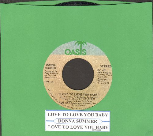 Summer, Donna - Love To Love You Baby (3:27 Radio Version + 4:57 Extended Disco Version with juke box label) - NM9/ - 45 rpm Records