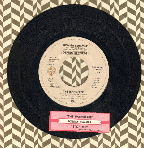 Summer, Donna - The Wanderer/Stop Me (with juke box label) - EX8/ - 45 rpm Records