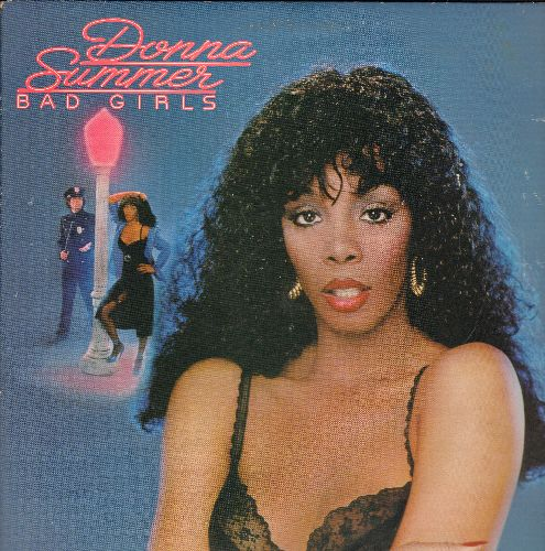 Summer, Donna - Bad Girls: Hot Stuff, Walk Away, Dim All The Lights, Love Will Always Find You, All Through The Night (hit songs are extended versions) (2 vinyl LP record set, gate-fold cover) - EX8/VG7 - LP Records
