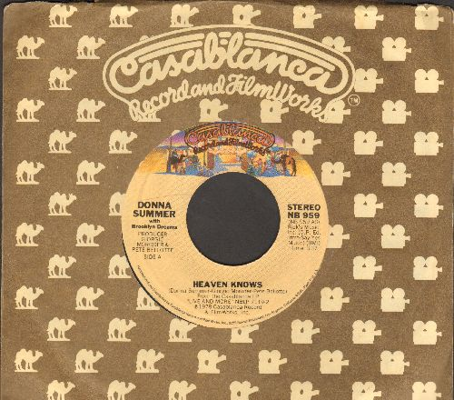 Summer, Donna - Heaven Knows/Only One Man (with Casablanca company sleeve) - M10/ - 45 rpm Records