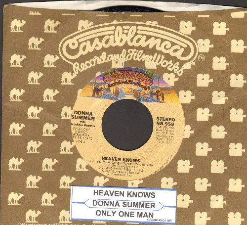 Summer, Donna - Heaven Knows/Only One Man (with Casablanca company sleeve and juke box label) - NM9/ - 45 rpm Records