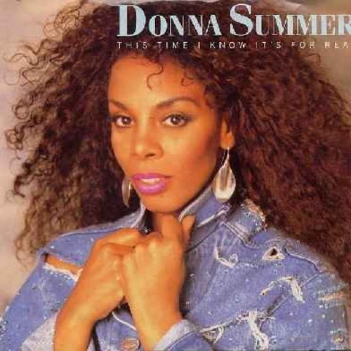 Summer, Donna - This Time I Know It's For Real (with picture sleeve) (heavy soc) - NM9/EX8 - 45 rpm Records