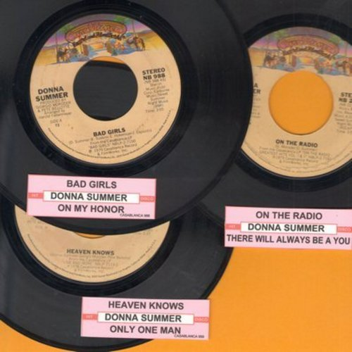 Summer, Donna - Donna Summer Disco 3-Pack: First issue hits include Bad Girls, Heaven Knows and On The Radio. Shipped in plain white paper sleeves with juke box labels. GREAT for a juke box! - EX8/ - 45 rpm Records