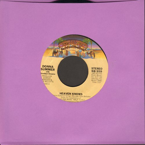 Summer, Donna - Heaven Knows/Only One Man (with juke box label) - EX8/ - 45 rpm Records