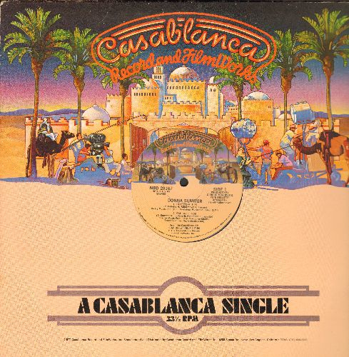 Summer, Donna - Hot Stuff (6:45 minutes Extended Disco Version)/Bad Girls (4:55 minutes Extended Disco Version) (RARE one-sided MAXI Single with Casablanca cover) - EX8/ - Maxi Singles