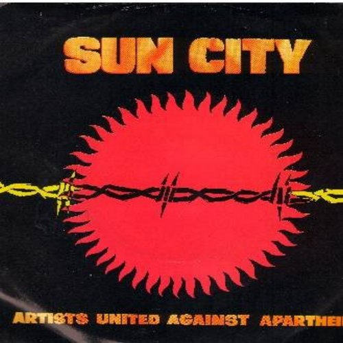 Artists United Against Apartheid - Sun City/Not So far Away (with picture sleeve) - NM9/VG7 - 45 rpm Records