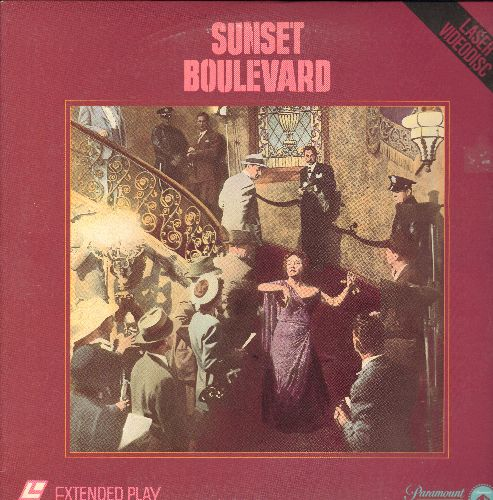 Sunset Boulevard - Sunset Boulevard - LASERDISC version of the Billy Wilder Cult Classic starring Gloria Swanson and William Holden (This is a LASERDISC, NOT any other kind of media!) - M10/EX8 - LaserDiscs