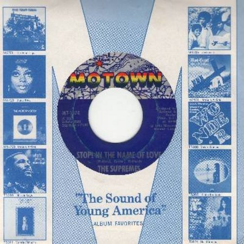 Supremes - Stop! In The Name Of Love/I'm In Love Again (with Motown company sleeve) - EX8/ - 45 rpm Records