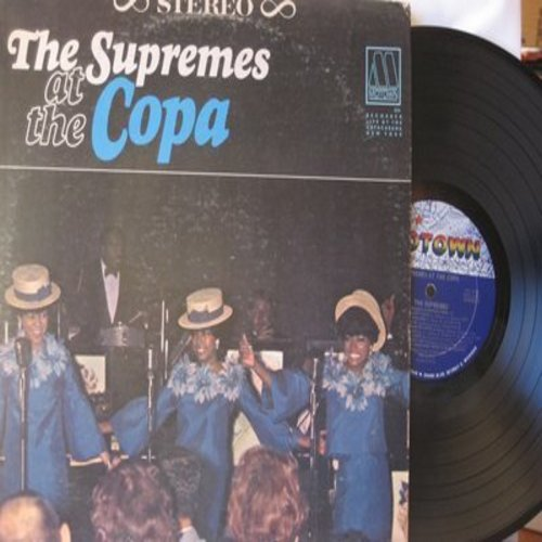 Supremes - The Supremes At The Copa: Put On A Happy Face, Nany Love, Stop! In The Name Of Love, The Boy From Ipanema, Come See About Me, Somewhere (Vinyl STEREO LP record) - NM9/VG7 - LP Records