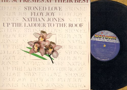 Supremes - At Their Best: Up The Ladder To The Roof, Love Train, Stoned Love, Floy Joy (Vinyl LP record) - VG7/EX8 - LP Records