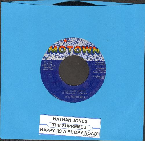 Supremes - Nathan Jones/Happy Is A Bumpy Road (with juke box label) - NM9/ - 45 rpm Records