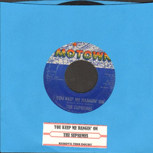 Supremes - You Keep Me Hangin' On/Remove This Doubt (with juke box label) - VG7/ - 45 rpm Records