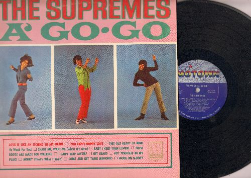 Supremes - The Supremes A' Go-Go: You Can't Hurry Love, Baby I Need Your Loving, I Can't Help Myself, Hang On Sloopy, These Boots Are Made For Walking (Vinyl MONO LP record) - EX8/EX8 - LP Records