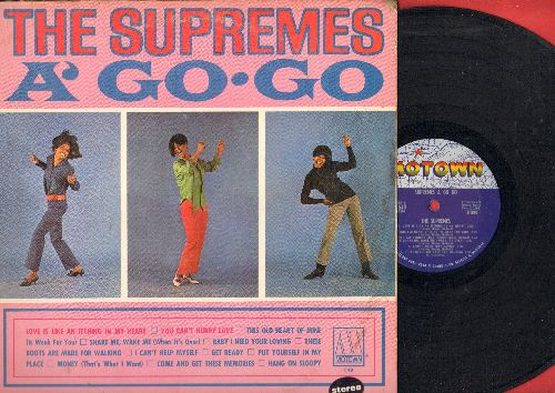 Supremes - Supremes A Go Go: You Can't Hurry Love, Baby I Need Your Loving, I Can't Help Myself, These Boots Are Made For Walking, Hang On Sloopy (Vinyl STEREO LP record) - EX8/EX8 - LP Records