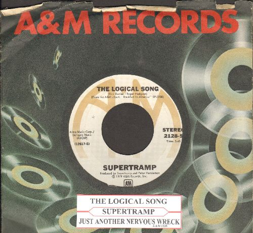 Supertramp - The Logical Song/Just Another Nervous Wreck (with juke box label and company sleeve) - EX8/ - 45 rpm Records