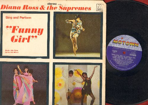 Supremes - Funny Girl - Diana Ross & The Supremes sing selections from the Broadway Hit (Vinyl STEREO LP record, gate-fold cover) - EX8/EX8 - LP Records