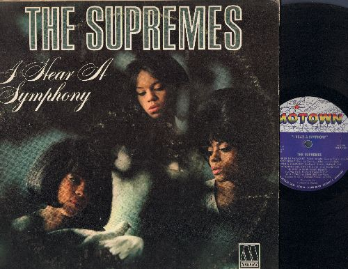 Supremes - I Hear A Symphony: Yesterday, Unchained Melody, A Lover's Concerto, Wonderful Wonderful (Vinyl LP record, RARE MONO pressing) - EX8/EX8 - LP Records