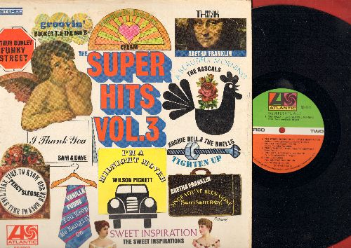 Bell, Archie & The Drells, Aretha Franklin, Booker T. & The MG's, Rascals, Sam & Dave, others - Super Hits Vol. 3: Tighten Up, I'm A Midnight Mover, A Beautiful Morning, You Keep Me Hangin' On, Groovin' (Vinyl STEREO LP record) - NM9/VG7 - LP Records