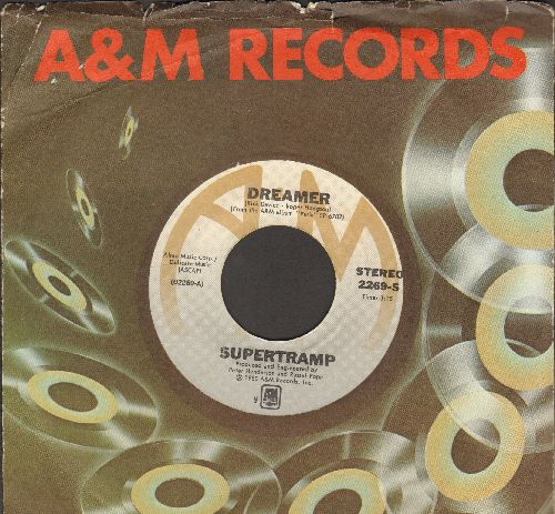 Supertramp - Dreamer/From Now On (with A&M company sleeve) - EX8/ - 45 rpm Records