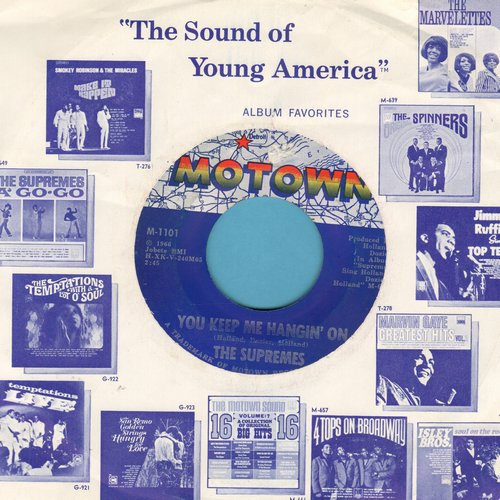 Supremes - You Keep Me Hangin' On/Remove This Doubt (with Motown company sleeve) - EX8/ - 45 rpm Records