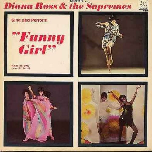 Supremes - Funny Girl: People, Sadie Sadie, I'm The Greatest Star, Don't Rain On My parade, If A Girl Isn't Pretty (Vinyl STEREO LP record) - NM9/VG7 - LP Records