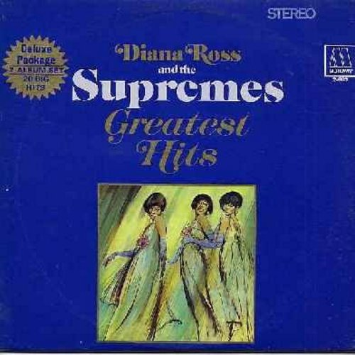 Supremes - Greatest Hits: (Double vinyl STEREO LP record): Baby Love, Stop! In The name Of Love, You Keep Me Hangin' On, You Can't Hurry Love, The Happening, Where Did Our Love Go Hear A Symphony  - EX8/VG6 - LP Records