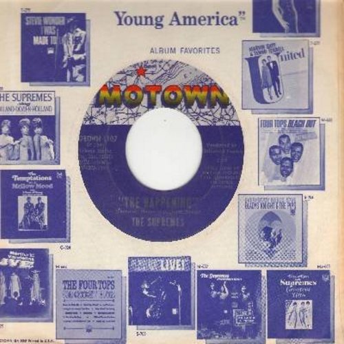 Supremes - The Happening/All I Know About You (with Motown company sleeve) - NM9/ - 45 rpm Records