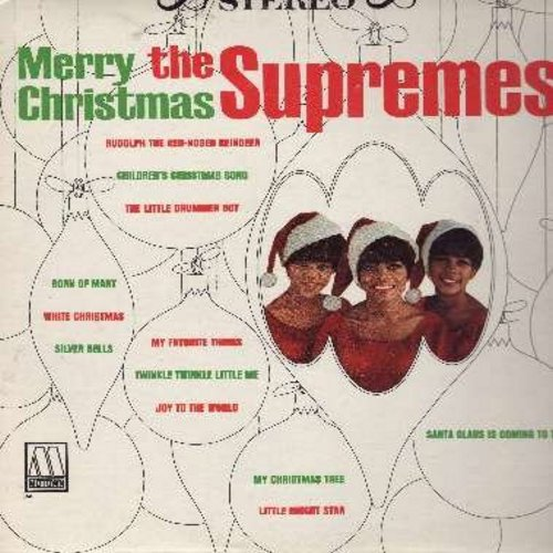 Supremes - Merry Christmas: Twinkle Twinkle Little Me, Santa Claus Is Coming To Town, My Favorite Things, Rudolph The Red-Nosed Reindeer (Vinyl STEREO LP record) - VG7/VG7 - LP Records