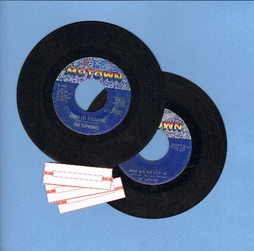 Supremes - 2 for 1 Special: Where Did Our Love Go/Come See About Me (2 vintage first issue 45rpm records for the price of 1!) - VG7/ - 45 rpm Records
