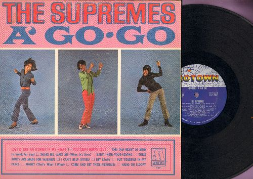 Supremes - The Supremes A' Go-Go: You Can't Hurry Love, Baby I Need Your Loving, I Can't Help Myself, Hang On Sloopy, These Boots Are Made For Walking (Vinyl MONO LP record) - VG7/VG7 - LP Records