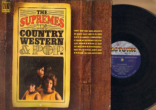 Supremes - The Supremes Sing Country Western & Pop: Funny How Time Slips Away, Tumbling Tumbleweeds, Baby Doll, Sunset, Tears In Vain (Vinyl MONO LP record) - EX8/EX8 - LP Records