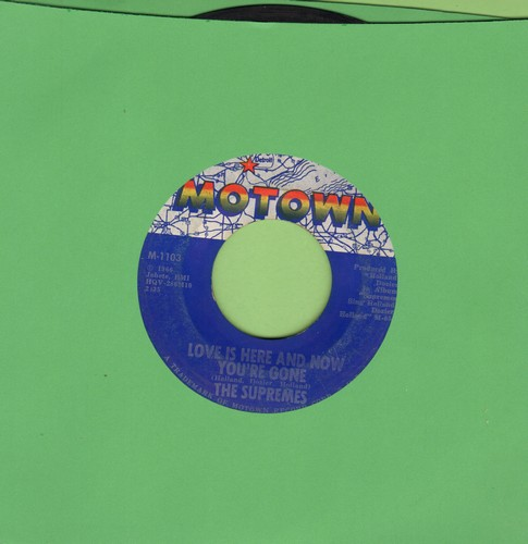 Supremes - Love Is Here And Now You're Gone/There's No Stopping Us Now (bb) - EX8/ - 45 rpm Records